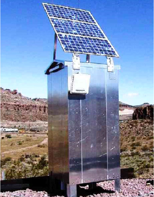Small Detector Housing with Solar Power Option